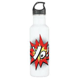 Pop Art Comic Yo! Stainless Steel Water Bottle