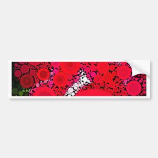 Pop Art Concentric Circles Floral Bumper Sticker