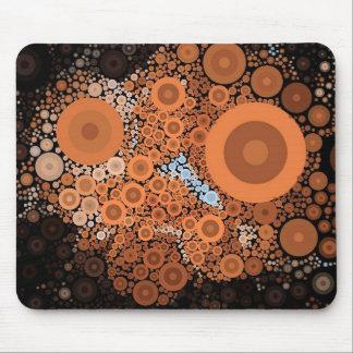 Pop Art Concentric Circles Floral Orange Mousepad