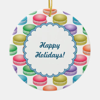 Pop Art Cookies Colorful Macarons Ceramic Ornament