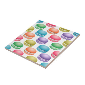Pop Art Cookies Colorful Macarons Ceramic Tile