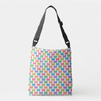 Pop Art Cookies Colorful Macarons Crossbody Bag