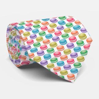 Pop Art Cookies Colorful Macarons Neck Tie