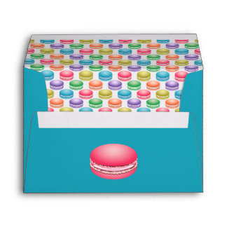 Pop Art Cookies Colorful Macarons Personalized Envelope