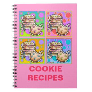 Pop Art Cookies Recipe Notebook