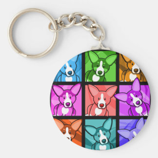 Pop Art Corgi Keychains