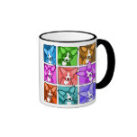 Pop Art Corgi Ringer Coffee Mug