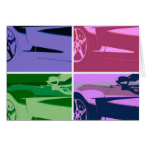 Pop Art Corvettes