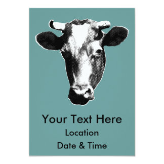 Pop Art Cow Card