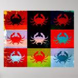 Pop Art Crab Poster