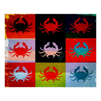 Pop Art Crab Poster