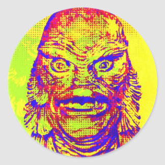 Pop Art Creature Classic Round Sticker