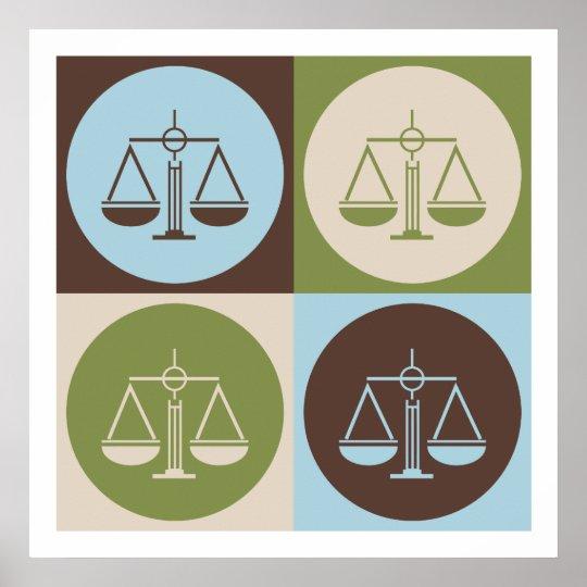 Pop Art Criminal Justice Poster