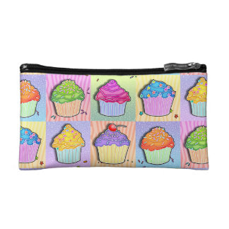Pop Art CUPCAKES ACCESSORY - CLUTCH - COSMETIC BAG