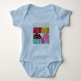 Pop Art Cupcakes Baby Bodysuit