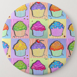 Pop Art CUPCAKES BUTTON