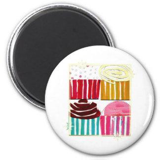Pop Art Cupcakes Fridge Magnet