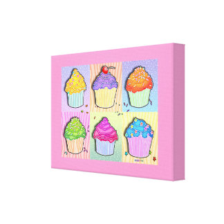POP ART CUPCAKES Gallery Wrapped Canvas