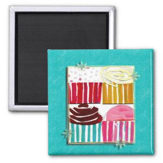 Pop Art Cupcakes Magnets
