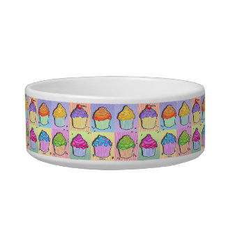 Pop Art CUPCAKES SNACK or PET BOWL