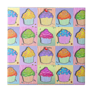 Pop Art Cupcakes Tile