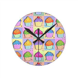 Pop Art CUPCAKES WALL CLOCK
