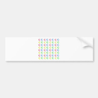 Pop Art Cut out Guinea pig Pattern Bumper Sticker
