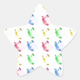 Pop Art Cut out Guinea pig Pattern Star Sticker