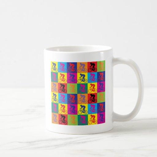Pop Art Cycling Classic White Coffee Mug