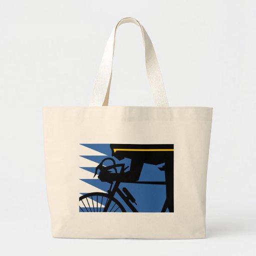 Pop Art Cyclist Jumbo Tote Bag