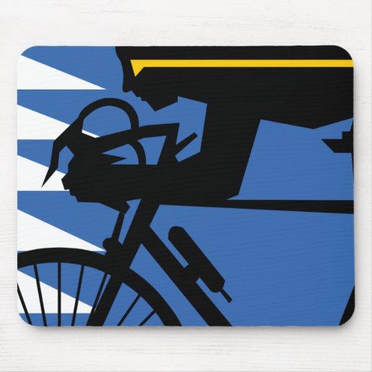 Pop Art Cyclist Mouse Pad