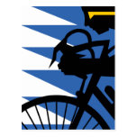 Pop Art Cyclist Postcard