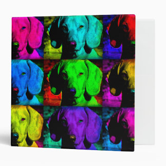 Pop Art Dachshund Doxie Sweet Face Soulful Eyes 3 Ring Binder