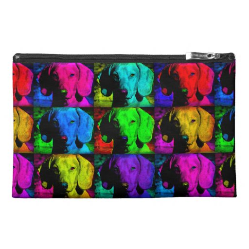 Pop Art Dachshund Doxie Sweet Face Soulful Eyes Travel Accessories Bag