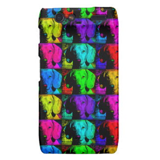 Pop Art Dachshund Doxie Sweet Face Soulful Eyes Motorola Droid RAZR Cover