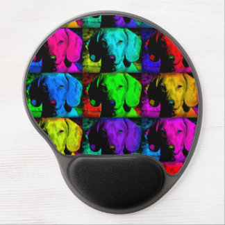 Pop Art Dachshund Doxie Sweet Face Soulful Eyes Gel Mouse Pad