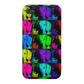 Pop Art Dachshund Doxie Sweet Face Soulful Eyes iPhone 4 Cover