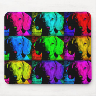 Pop Art Dachshund Doxie Sweet Face Soulful Eyes Mouse Pad