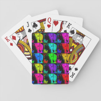 Pop Art Dachshund Doxie Sweet Face Soulful Eyes Playing Cards