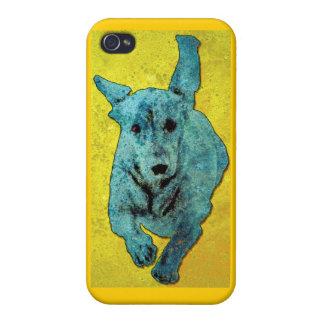 Pop Art Dachshund Running Grunge Case For iPhone 4