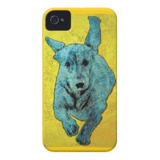 Pop Art Dachshund Running Grunge iPhone 4 Covers