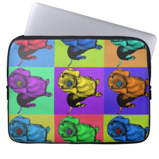 Pop Art Dachsund Doxie Panels Multi-Color Popart Computer Sleeves