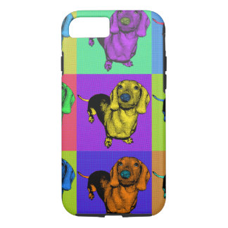 Pop Art Dachsund Doxie Panels Multi-Color Popart iPhone 8/7 Case