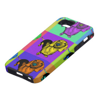 Pop Art Dachsund Doxie Panels Multi-Color Popart iPhone SE/5/5s Case