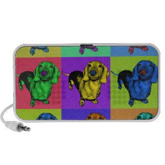 Pop Art Dachsund Doxie Panels Multi-Color Popart Laptop Speaker