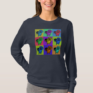 Pop Art Dachsund Doxie Panels Multi-Color Popart T-Shirt