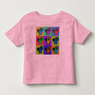 Pop Art Dachsund Doxie Panels Multi-Color Popart Toddler T-shirt