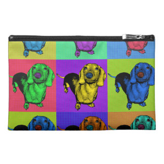 Pop Art Dachsund Doxie Panels Multi-Color Popart Travel Accessories Bags