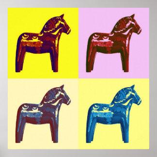 Pop Art dala horse Poster