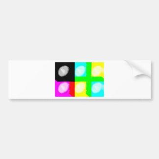Pop Art Daub Car Bumper Sticker